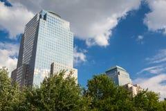 Battery Park on Manhattan Island in New York City Stock Image