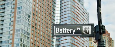 Battery Park New York City Downtown Lower East Side Manhattan District stock photos