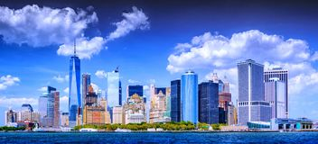 Battery park view of Manhattan Royalty Free Stock Photos