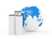 Battery and planet the earth Royalty Free Stock Photography