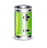 Battery with plus minus sign isolated Royalty Free Stock Image