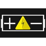 Battery. Plus and minus signs in the middle of the sign of the energy Stock Photo