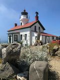 Battery Point lighthouse front view royalty free stock photography