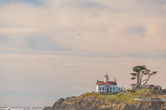 Battery Point Lighthouse at Pacific coast, built in 1856 Royalty Free Stock Photo