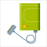 Battery power bank energy electricity tool vector illustration. Stock Image
