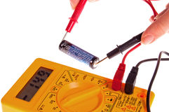 Battery power measurement Royalty Free Stock Photography