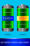 Battery - Between Power and Spirit Stock Photo