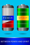 Battery - Between Power and Spirit Royalty Free Stock Image