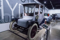 Battery powered 1915 Detroit Electric Model 61 Brougham Royalty Free Stock Photo