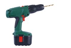 Battery powered drill Stock Image