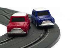 Battery powered slot cars stock photos