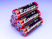 Battery Pyramid Royalty Free Stock Images