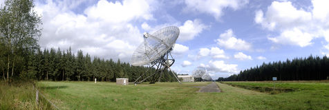 A battery of Radio Telescopes Stock Photography