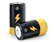 Battery realistic vector Royalty Free Stock Photos