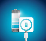 Battery recharge illustration design Stock Photo