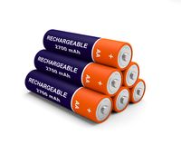 Battery rechargeable 3D illustration. 6 Stock Images