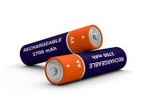 Battery rechargeable 3D. Illustration energy Royalty Free Stock Photo