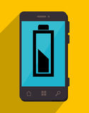 Battery recharging smartphone design. Smartphone Battery recharging graphic design, vector illustration Royalty Free Stock Photo