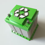 Battery Recycle.  Stock Photo