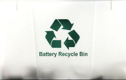 Battery Recycle Bin Stock Photos