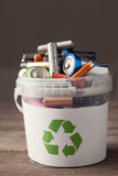 Battery recycle bin royalty free stock photos
