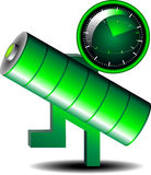 Battery reminder icon Royalty Free Stock Image