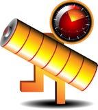 Battery reminder icon Stock Photo