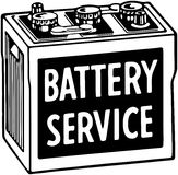 Battery Service Royalty Free Stock Photography