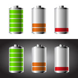 Battery set Royalty Free Stock Photos
