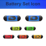 Battery set icon Stock Images
