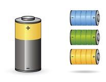Battery set II Royalty Free Stock Image