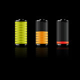 Battery set-vector Royalty Free Stock Photo
