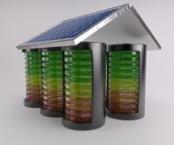 Battery Solar Charge Levels Stock Photography