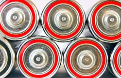 Battery stack Royalty Free Stock Photography