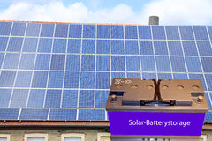 Battery storage for PV systems Royalty Free Stock Photo