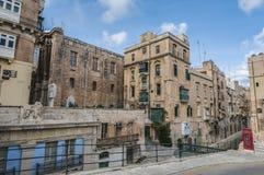 Battery Street in Valletta, Malta Stock Image