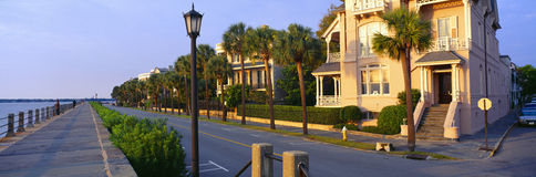 Battery Street Waterfront,. Charleston in South Carolina Royalty Free Stock Photos