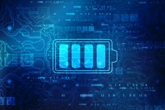Battery Supply Concept Background, Energy Efficiency Concept stock photos