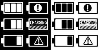 Battery symbol icons set vector