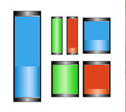 Battery Symbols Royalty Free Stock Photo