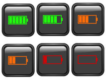 Battery symbols Stock Photography