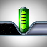 Battery Technology Disrupting Oil Industry Royalty Free Stock Photo