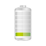 Battery in ten percent icon. Illustraction design Royalty Free Stock Photos