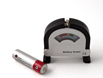 Battery tester Royalty Free Stock Image