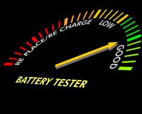 Battery testing instrument royalty free stock photos