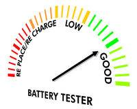 Battery Testing Instrument. To test the level of the battery Stock Photography