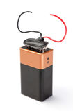 Battery-to-wire for charging. Stock Images