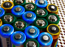 Battery tops Royalty Free Stock Photos