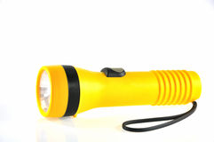 Battery torch light. Portable battery torch light with strap Royalty Free Stock Photography