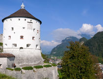 Battery Tower of the Kufstein, Austria Fortress Royalty Free Stock Images